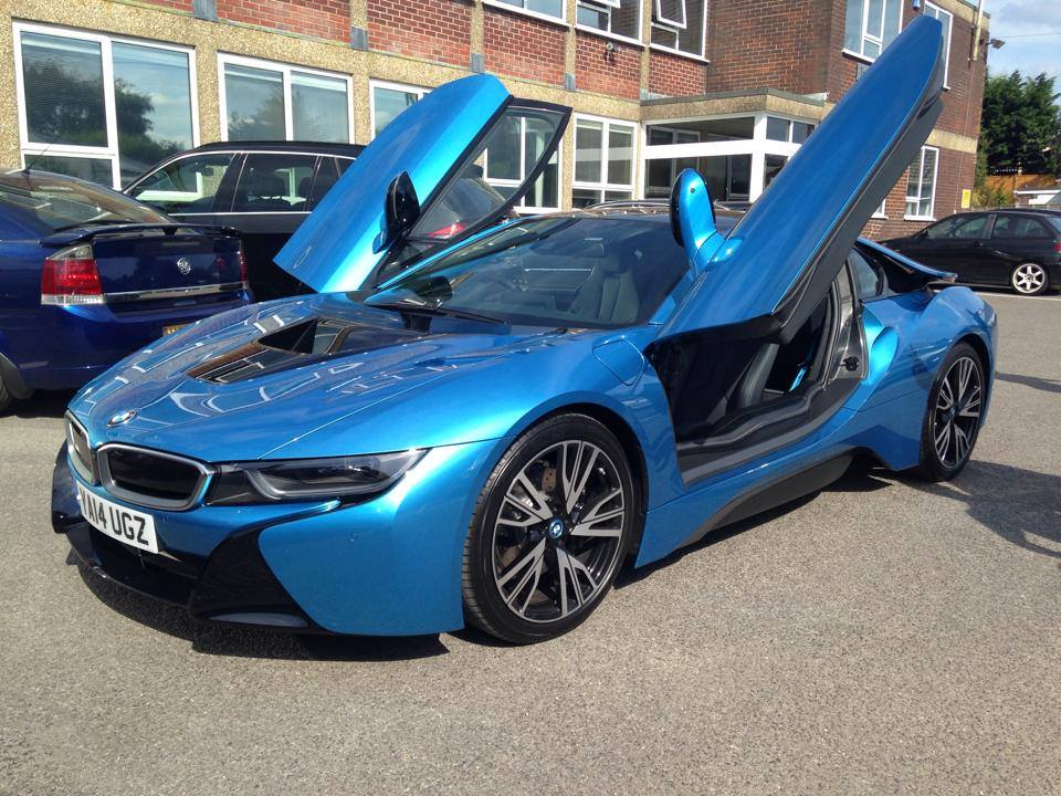 Wait, is that the new BMW i8? You know it is!