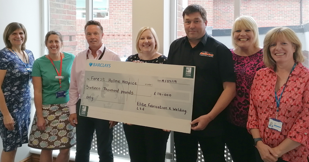 Charles Trent And Elite Fabrication & Welding Team Up To Raise £16K For Poole Hospice