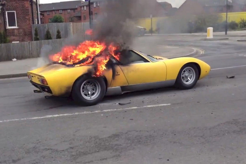 Lamborghini Miura Fire Charles Trent Blog