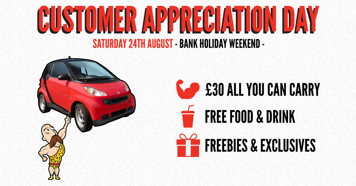 Rugby Customer Appreciation Day | All You Can Carry Event