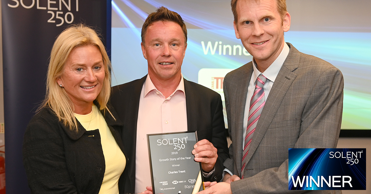 Charles Trent Scoops 'Growth Story Of The Year 2019' at Solent 250 Awards