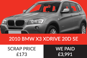 2010 BMW X3 XDrive 20D SE Better Than Scrap Price