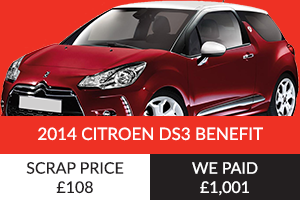 2014 Citroen DS3 Benefit Better Than Scrap Price