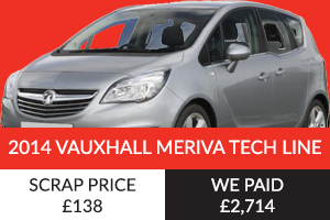 2014 Vauxhall Meriva Tech Line Better Than Scrap Price