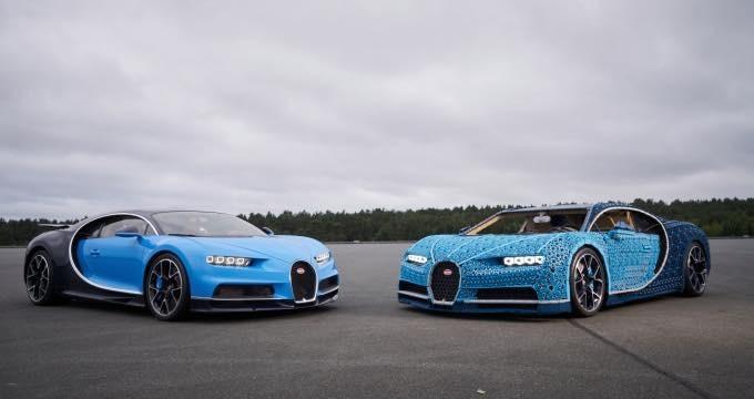 Bugatti Chiron Lego Technic Comparison