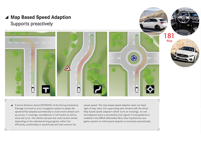 Mercedes Route-Based Speed Adjustment