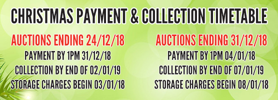 Charles Trent Christmas Auction Collection and Payments Timetable