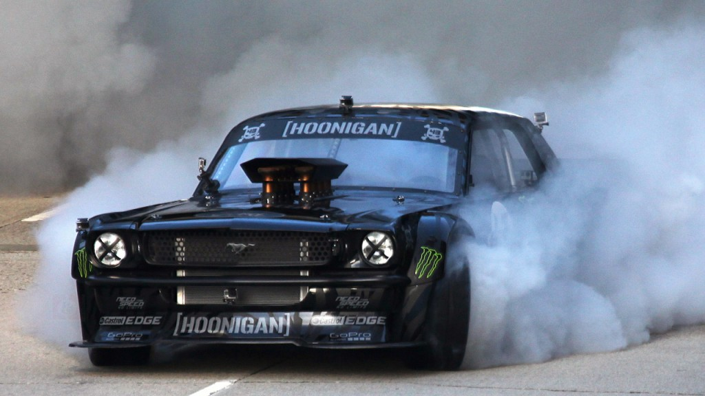 Ken-Block-Gymkhana-Mustang-in-action